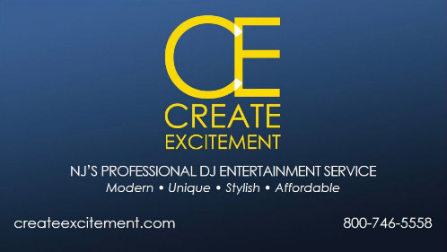 Create Excitement DJ Entertainment Logo