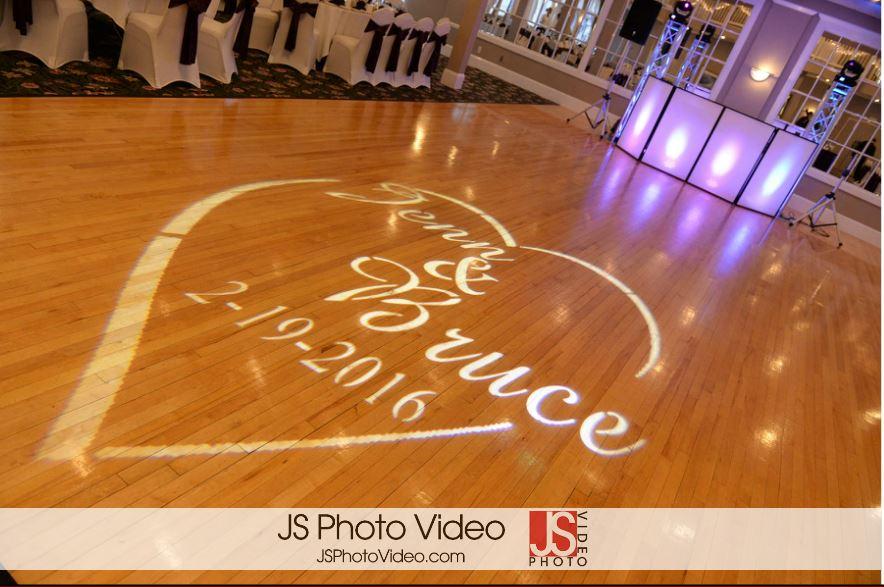 Waterview Pavilions Belmar, NJ wedding monogram