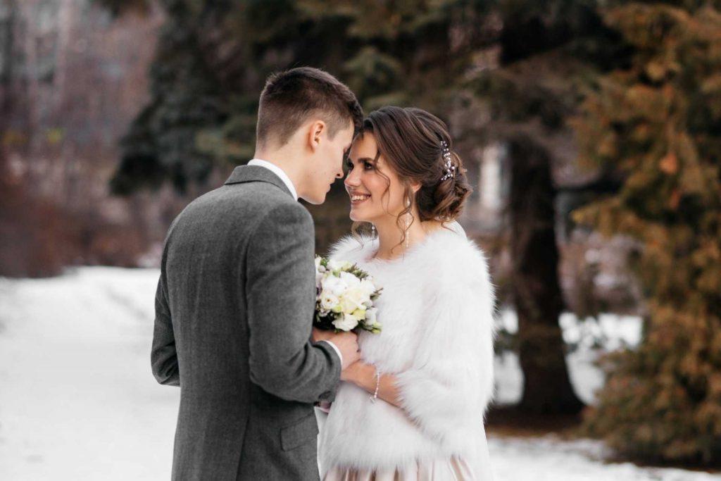 Winter wedding in New Jersey